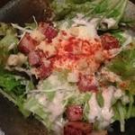 和菜遊彩 叶 - 厚切りベーコンと温玉のシーザーサラダ