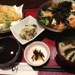 和菜遊彩 叶 - ランチ(天ぷら盛り合わせ&豆腐と地のりのサラダ)