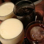 蓮 - 料理写真:4名で乾杯〜♪
