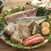 蔦の家 - 料理写真:詰合せ「花鳥」。沖目鯛・銀鱈・サワラの大名切り、サバ・イカ・タラコ・帆立の珍味の入ったと贅沢な詰め合わせ。