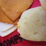 ポンパドウル - 178円 三角白パンチーズ入りと無料のパンの耳
