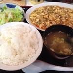 21239540 - 麻婆豆腐定食(¥600)