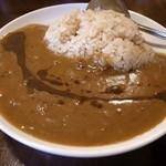 らぁめん 葉月  - 煮干カレーライス(ランチタイム200円)