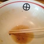 らーめん田 - 汁完しても喉が乾かないくらい、塩分は控えめなのにコクのある旨味