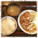 いちばん星 - ワンコイン♪ 生姜焼き定食ぅん ヽ(*⌒▽⌒*)ノ