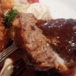 昔洋食みつけ亭 - ハンバーグ