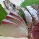 味覚 - ヒラソ(ヒラマサ)、鯵、鰹