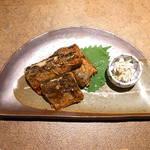 築山 - 秋刀魚のムニエル オリーブオイルで♪ 付け合せは山葵漬け♪