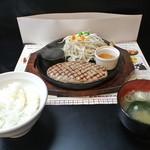 ハンバーグトレイン - with ごはん、 ランチタイム時無料の味噌汁