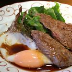 フランス田舎料理の店 ビストロ ベズ - 牛もも肉のソテー&エッグ