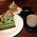 霧の森 茶フェ ゆるり - 茶ペラ、抹茶、ほうじ茶ソフト