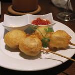 イタリアン大衆酒場HARUTA - フリット (カマンベールチーズ、マッシュルーム)