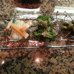 wine & dinning TOROS - ☆自分でチョイスした…前菜3種盛り合わせ…ケパス最高!!(*^。^*)☆