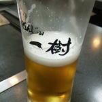 もんじゃ 一樹 - ロゴ入りグラス