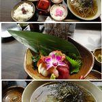 松吟庵 - 松吟庵(宮城県)でお造り膳。食彩賓館撮影