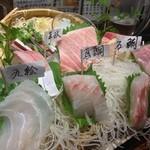 21261641 - お勧めの刺し盛り                       すべてが満点の魚たち