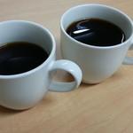 ピエロ珈琲専科 - 自宅にて飲み比べ:左がイルガチェフェのナチュラルG1・右がイルガチェフェのウォッシュド製法
