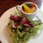 銀座フォワグラ - サラダと蒸し野菜