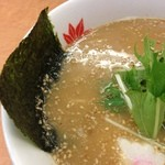 ラーメン てんぐ - ラーメン てんぐ 西陣店の匠京みそラーメンの水菜と海苔(13.09)