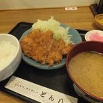 どん八 山下町店 - ロースカツMセット¥750