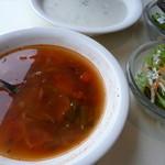 アルル - サフランライスのセットスープ