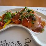 洋食屋アニバーサリー 永遠 - 前菜は共通。ちょい和風な感じが面白いですね。