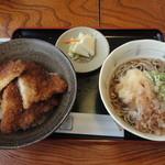 ほたや食堂 - ソースカツ丼セット(おろし蕎麦)
