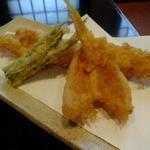 長生庵 - ヒメコ鯛と穴子の天ぷら