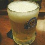 かつ吉 - 生ビール