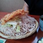21283565 - 細うどん+天ぷら+キャベツ+おろし+肉