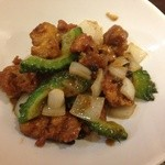 21283883 - 鶏と揚げ豆腐の黒豆炒め