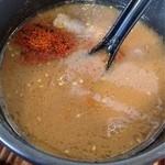 晴レル屋 - 塩つけ麺・全部のせ。