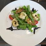 ル ピニョン - 前菜 活ハモのフリット、バルサミコソース