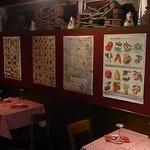 フッチャ - チェックのテーブルクロスはリヨンのビストロ風