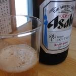 天藤 - スカイツリーのイラスト入りラベルのビール