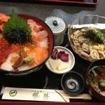 楓林 - 海鮮丼に冷やしうどんと赤だし1480円