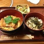 めんぼう壱久 - カツ丼セット(冷たいうどん) 990円