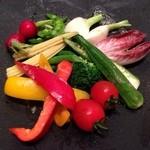 オイスタープレート - 緑黄色ww! やっぱり野菜でしょー