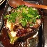 双庵 - 賀茂茄子とモッツァレラチーズ 田楽焼き 500円。