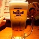 龍馬亭 - 生ビールはプレモル