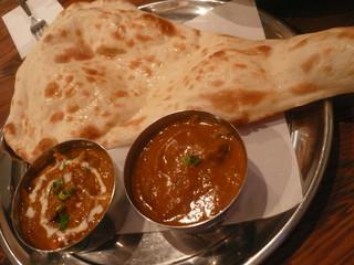 クリスナキッチン 本格インド・ネパール料理店 戸塚店 - ディナーセットカレーの一部 カレーはマトンマサラとカニ 2013.9