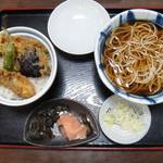 湯蕎庵たかはし - ランチメニューの天丼セット 950円