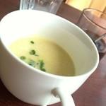 シャトー2Fカフェ - 付け合せのスープ