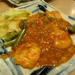 中国四川料理天悠 - 海老のチリソース