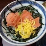 ザ・どん JR神戸駅店 - (日替り)さけトロサーモン汁セット のさけサーモン丼 <拡大>
