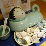 伊万里鍋島焼会館 軽食・喫茶コーナー - (2013/8月)喫茶コーナーシュガーとコーヒーフレッシュ