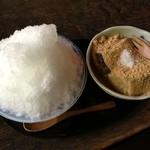 空点庵 - かき氷(みぞれ)+わらび餅