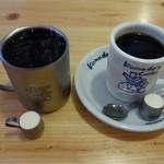 コメダ珈琲店 - ドリンク写真:ホット&アイスコーヒー どちらも400円