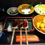 21319560 - 豆腐田楽と畑のお肉の唐揚げ御膳