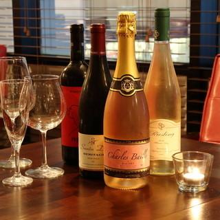 ソムリエ厳選のワイン約50種がボトルで税抜2,980円!
